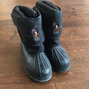 Polo Ralph Lauren kids winter boots Sz 3